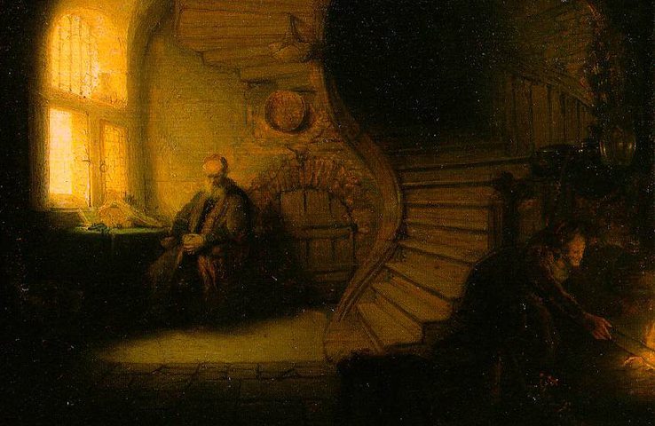 "Rembrandt ""The Philosopher in Meditation"""