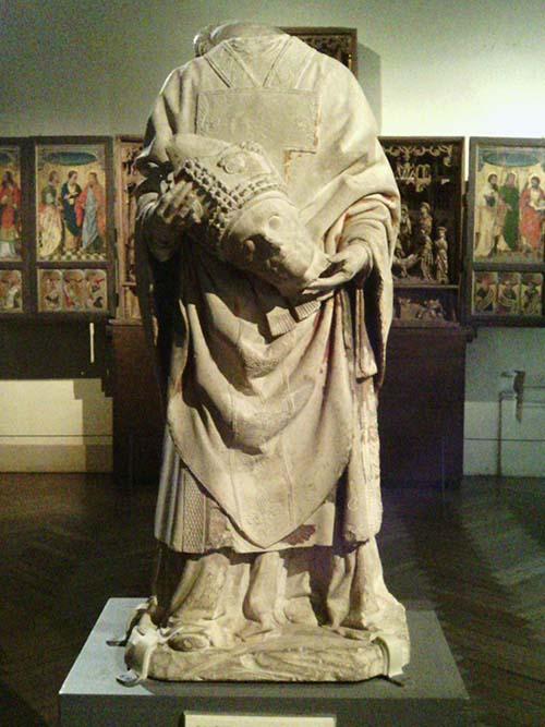 Postać św. Dionizego, Muzeum Cluny, Paryż fot. K. Kijewski