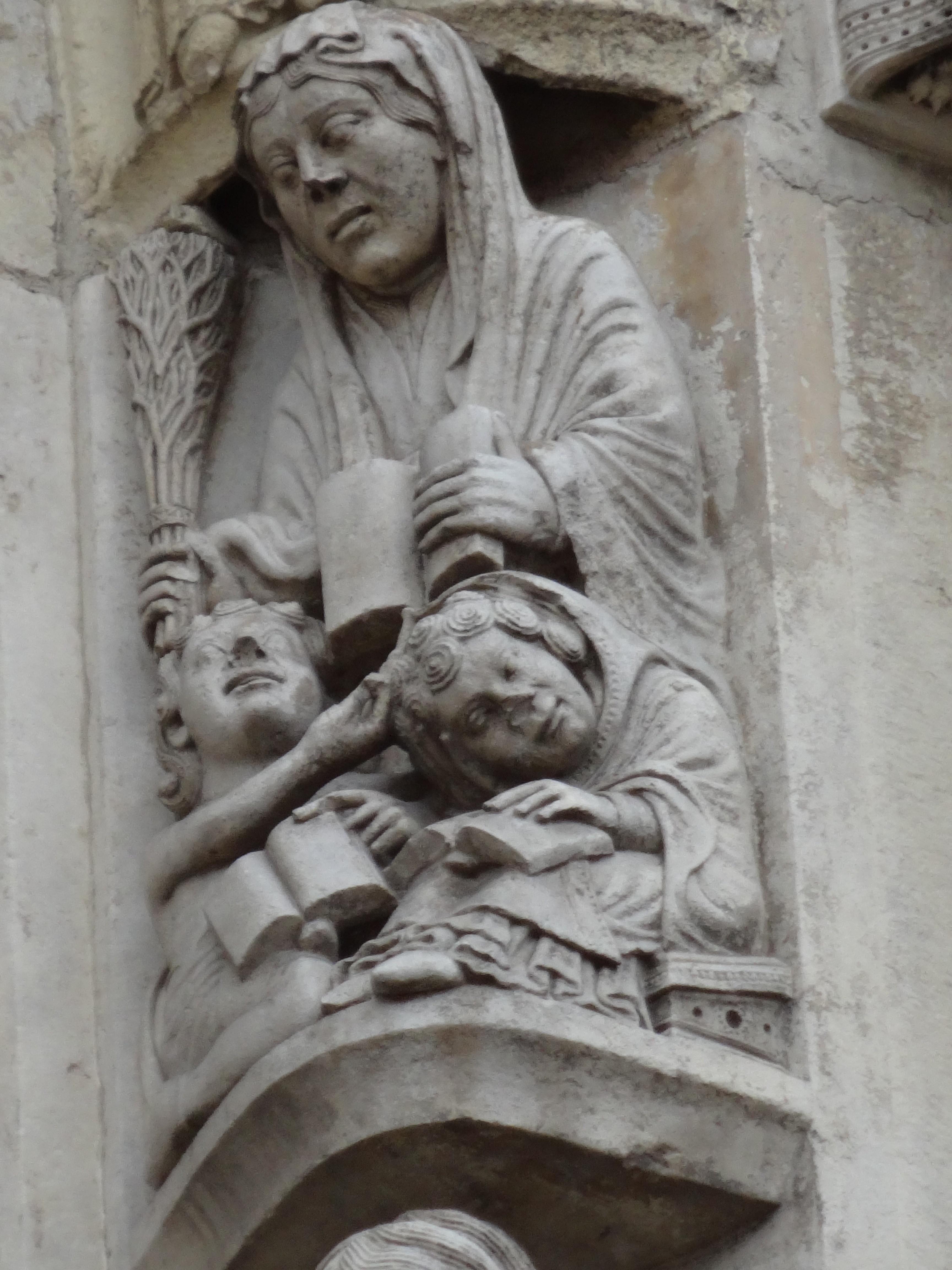 Portal katedry w Chartres - Gramatyka; fot. K. Kijewski