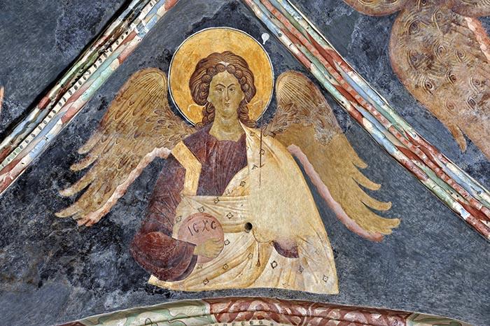 Anioł, kaplica św.Trójcy Lublin, pracownia mistrza Andrzeja, 1418 r. Fot. P. Maciuk.