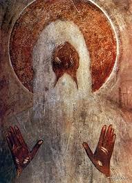 Teofan Grek, św. Makary Egipski, Nowogród 1378.
