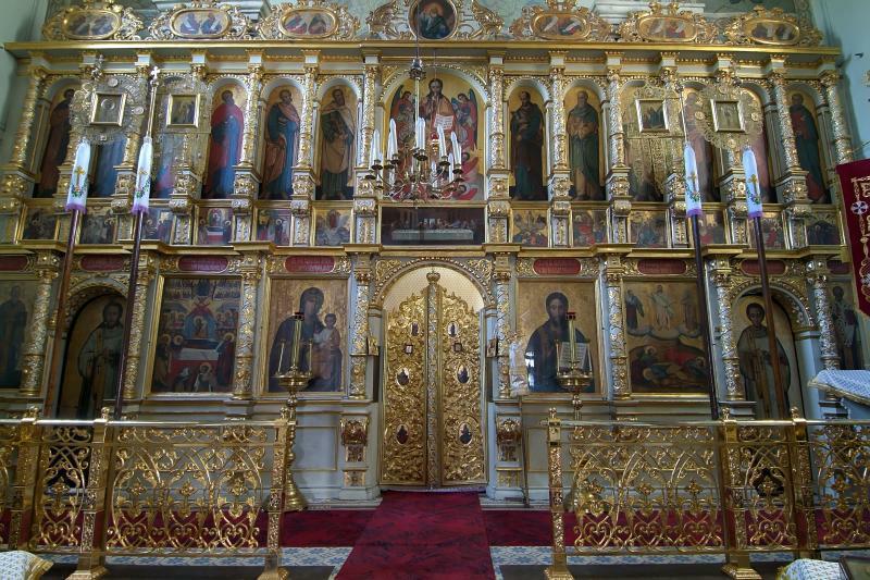 Ikonostas, cerkiew Przemienienia Pańskiego, Lublin