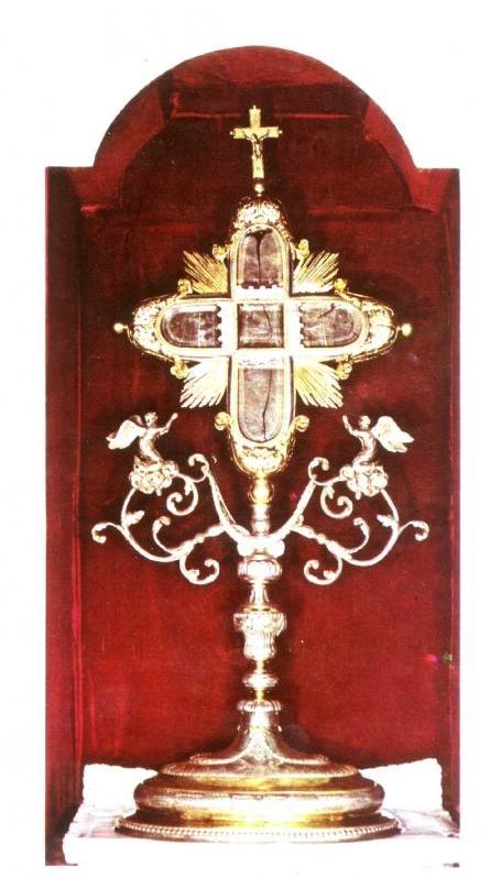 Relikwiarz z relikwiami Drzewa Krzyża Świętego, do 1991 r. w Lublinie