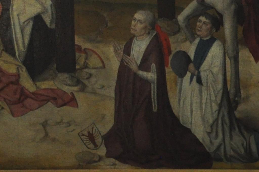 Mikołaj z Kuzy wraz z młodszym bratem Janem. Fragment tryptyku w kaplicy Szpitala św. Mikołaja w Kues