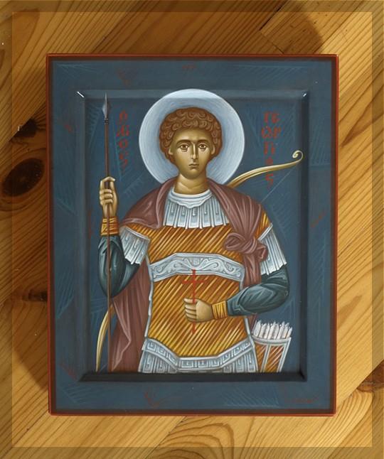 Ikona św.Jerzego Zwycięzcy. Światło na ikonie jest znakiem Dobra i  Piękna, mających swoje źródło w Bogu. Wyk. N. Oniśko