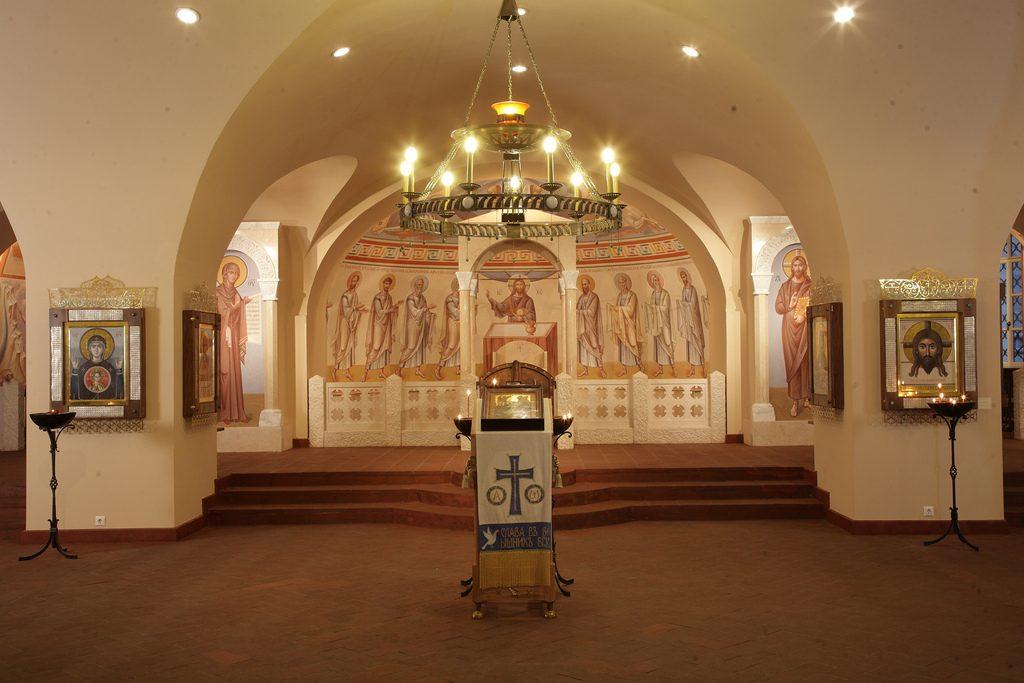 Komunia Apostołów, dolna cerkiew katedry Fiodorowskiej, Sankt