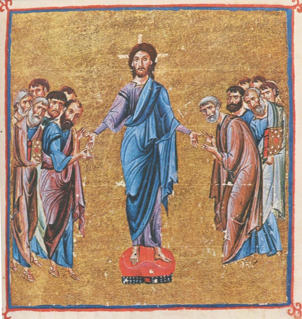 Jezus ukazuje się swoim uczniom, iluminacja