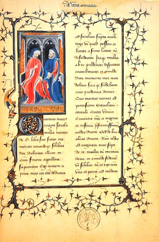 Cyceron, De amicitia, Francja, początek XV wieku