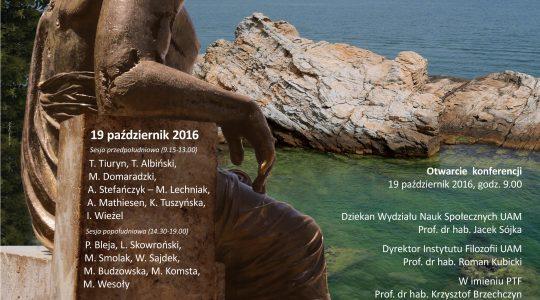 Konferencja rocznicowa pt. Z powrotem do Arystotelesa